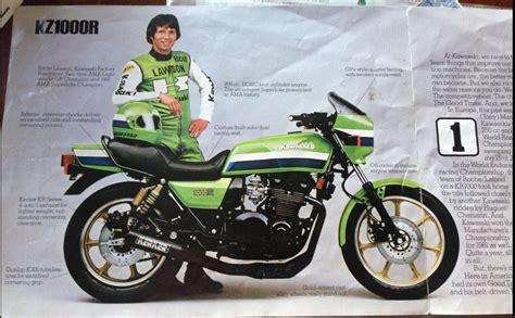 Vintage Kawasaki by Kawasaki And Eddie Lawson Chin On The Tank Motorcycle