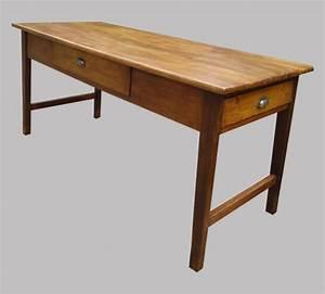 Table Ancienne De Ferme : table de ferme authentique en bois naturel avec 2 beaux tiroirs ~ Teatrodelosmanantiales.com Idées de Décoration