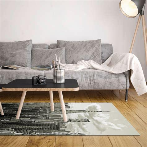 tapis vinyle  york noir  blanc    cm