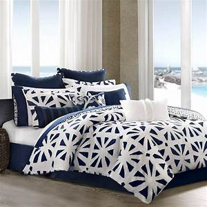 Navy, Blue, And, White, Comforter, And, Bedding, Sets
