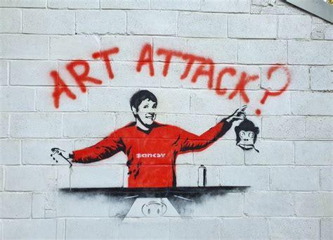 Man finds Banksy art on garage wall but secret artist's ...