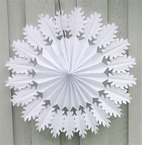 snowflake decor oak snowflake paper decoration by petra boase ltd notonthehighstreet com
