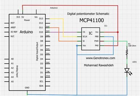 Digital Potentiometer Mcp Arduino