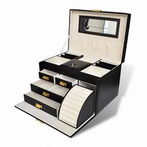 Boite A Bijoux : bo te bijoux 5 plateaux et 4 tiroirs achat vente boite a bijoux bo te bijoux 5 plateaux ~ Teatrodelosmanantiales.com Idées de Décoration