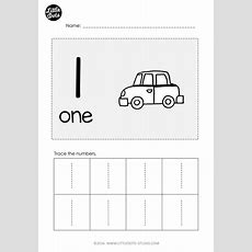 Free Number 1 Worksheet For Prek Level Practice To Trace Number 1 With This Worksheet