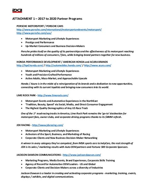 Cover Letter For Sports Marketing by Pdca Motorsport Marketing Cover Letter