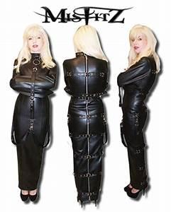 Leather Look Hobble Straitjacket Dress