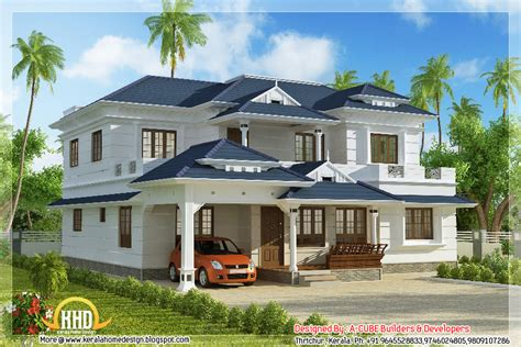 blue bathroom designs 4 bhk kerala style house elevation 3074 sq ft indian home decor