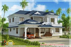 4 BHK Kerala style house elevation - 3074 Sq Ft home