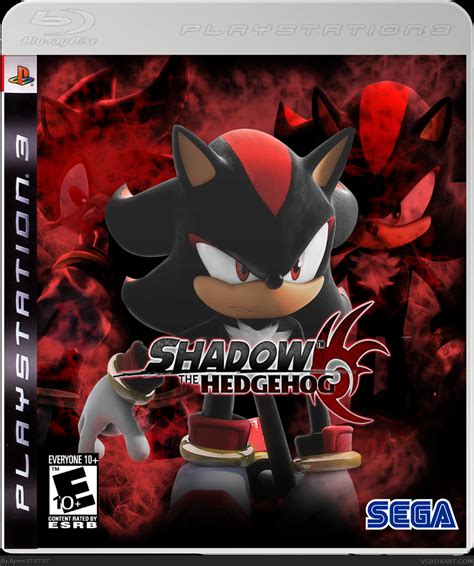 shadow  hedgehog playstation  box art cover  ayron