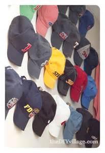 Hanging Baseball Hats On Wall
