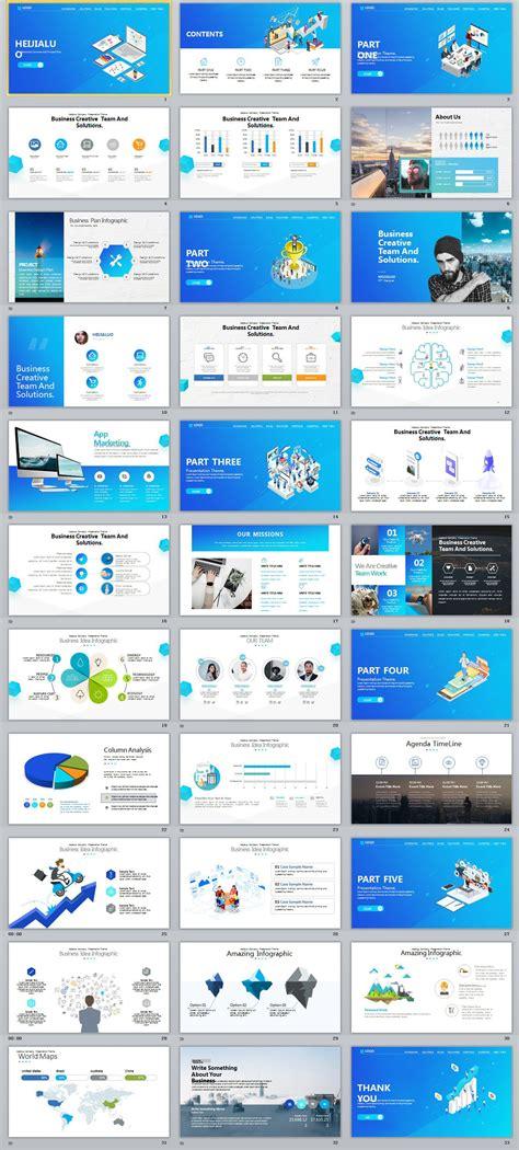business website ui design powerpoint template