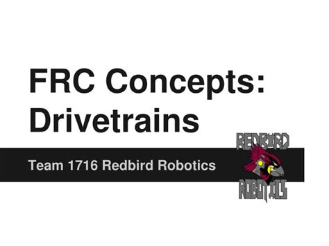 Drivetrains Powerpoint Presentation