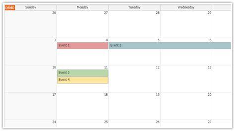 angular monthly calendar quick start project daypilot code