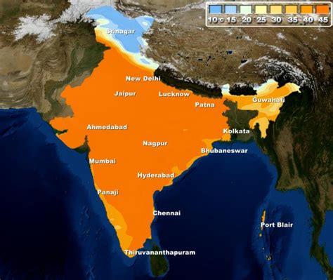 india weather delhi plains temperature temperatures rise north gangetic rajasthan western northwest intense grip sunday heat haryana punjab current skymet