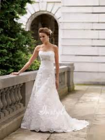 strapless wedding dress looking classical and vintage with strapless lace wedding dresses sangmaestro