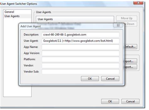 firefox browsing mozilla registration without website using googlebot bot agent user