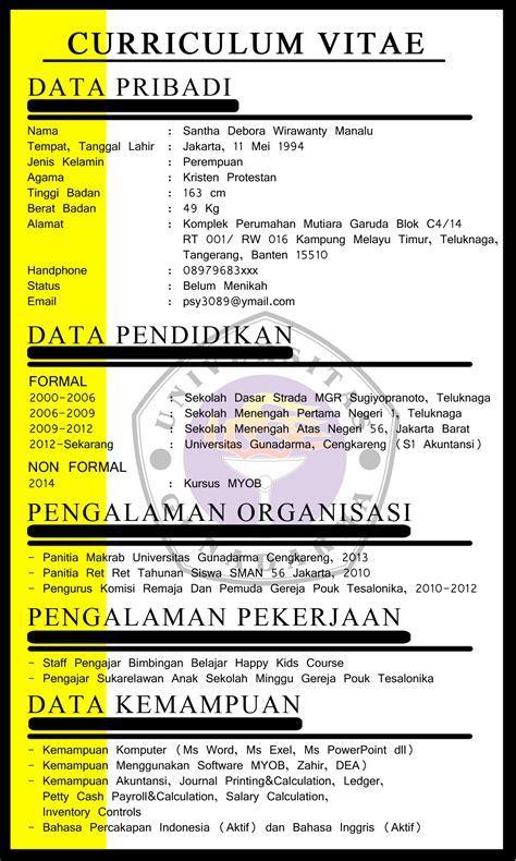 tugas bahasa indonesia curriculum vitae cv coup d