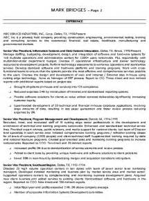 cio technology executive resume exle sle