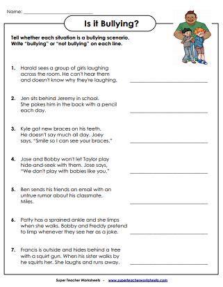 printable anti bullying worksheets  images