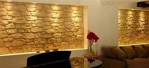 decoration salon avec mur en pierre With decoration murale avec pierre