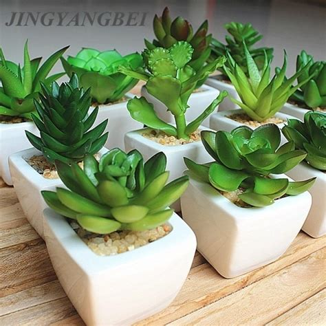 Window Sill Plant Pots by Sale 12pcs Set Mini Artificial Potted Succulent