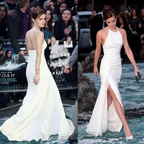 New Elegant Emma Watson Celebrity Dresses Halter Neck