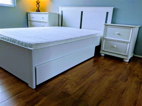 Songesand Bed Frame W/storage Boxes Each Side