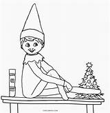 Coloring Pages Holiday Elf Shelf Cool2bkids sketch template