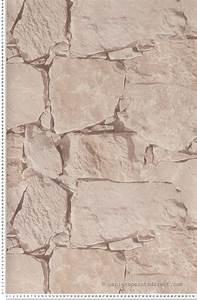 Tapisser Avec 2 Papiers Differents : papier peint pierre naturelle ~ Nature-et-papiers.com Idées de Décoration