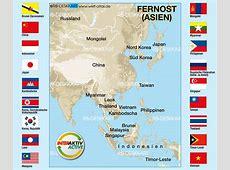 Map of Flags Far East Region in 18 States WeltAtlasde