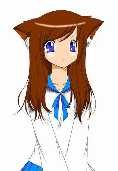 Cat Anime Draw Person Ears Drawing Clipart