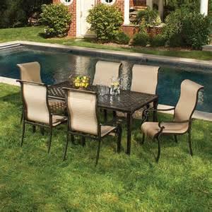 hanover outdoor brigantine 7 piece outdoor dining set
