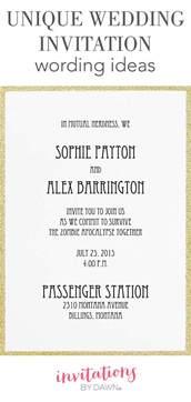 wedding invitation wording unique wedding invitation wording ideas invitations by