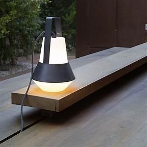 Lampe De Jardin : lampe de jardin baladeuse cat blanc noir h32cm faro luminaires nedgis ~ Teatrodelosmanantiales.com Idées de Décoration