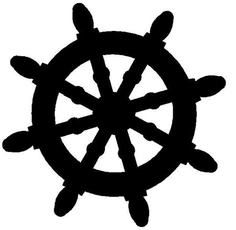 Boat Steering Wheel Silhouette by Free Silhouette Ships Wheel Clipart Search