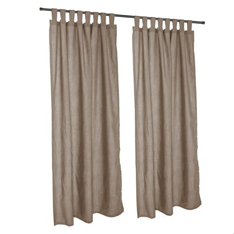 cast shale sunbrella outdoor curtains with tabs