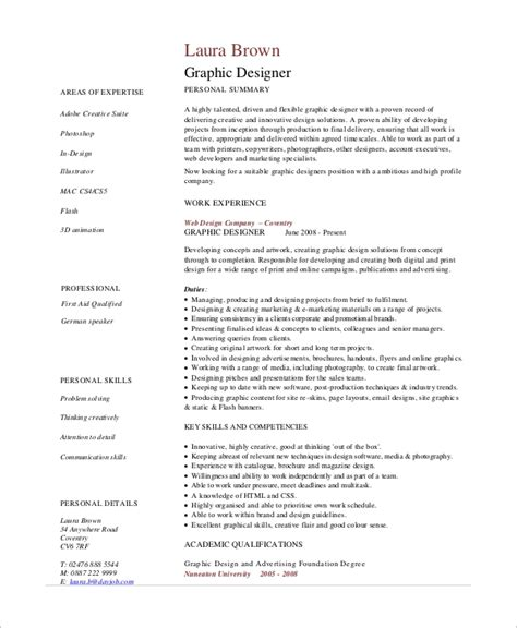 sample graphic design resume  examples