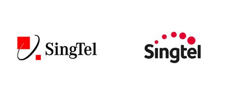 Red And Black Pictures Brand New New Logo And Identity For Singtel