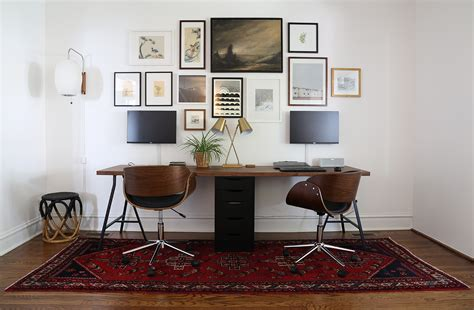 two person desk two person desk and gallery wall project palermo
