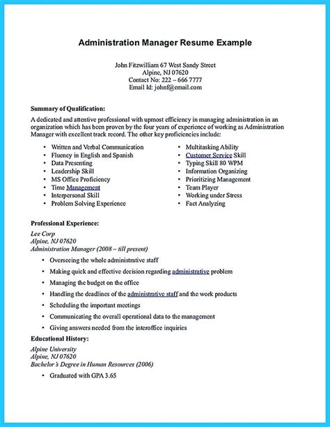 Make Your Resume Free by Cool Professional Administrative Resume Sle To Make You