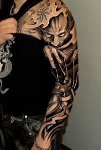 Tatouage Bras Complet Homme : tatouages noir bras complet homme as6y9 projets ~ Dallasstarsshop.com Idées de Décoration