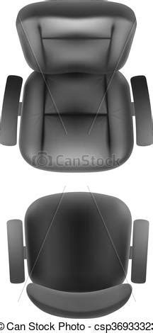 bureau line office vector illustration of office chair and armchair top