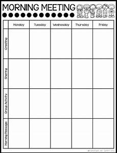 25 best ideas about morning meeting kindergarten on With morning meeting lesson plan template