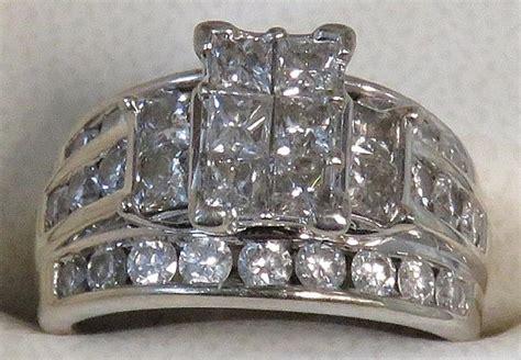 Helzberg Diamonds 14k White Gold Engagement Set Rings