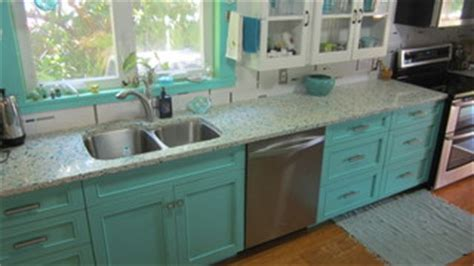 kitchen cabinet photo floating blue vetrazzo and teal cabinetry eclectic 2671