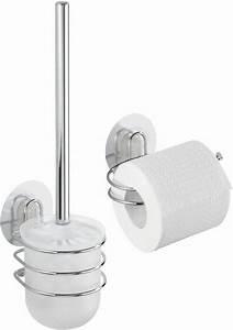 Wc Garnitur Set : wenko static loc wc garnitur und wc rollenhalter osimo 2 teiliges set online kaufen otto ~ Orissabook.com Haus und Dekorationen