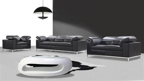 canapé design noir et blanc salons cuir mobilier cuir