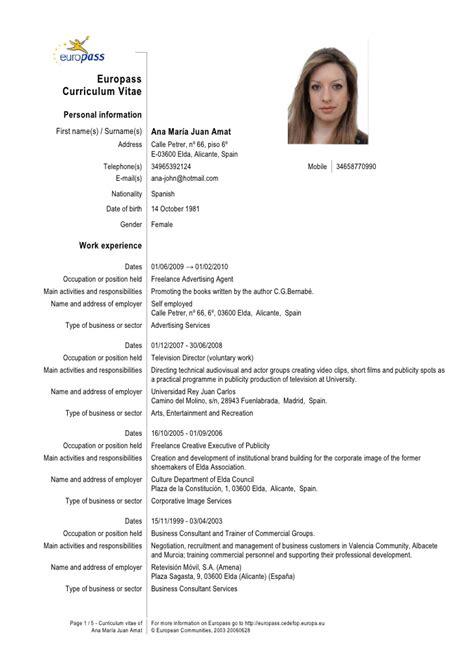 Cv Europass Template Engleza Example Good Resume Template