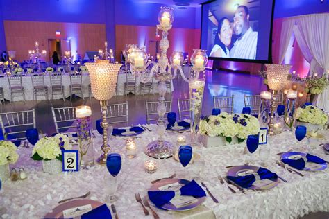 Our Royal Blue And White Wedding Bridal Party Blue